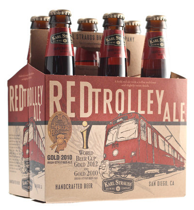 Karl Strauss Red Trolley Ale at Award Wieners