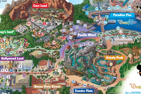 Printable Map of California Adventure
