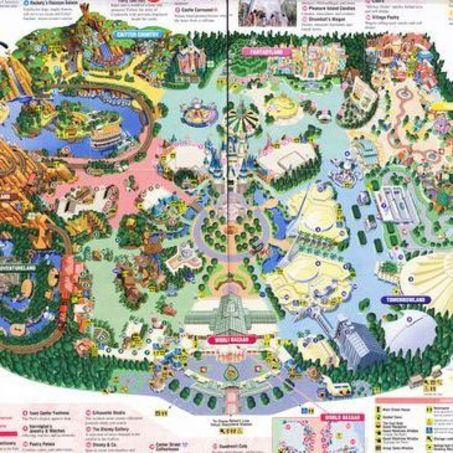 Downloadable Map of Disneyland