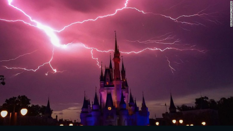 Rain & Lightning in Disneyland