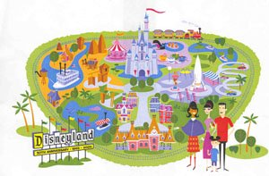 photograph about Disneyland Printable Map named Map of Printable Map Disneyland California, - World wide Map Databases